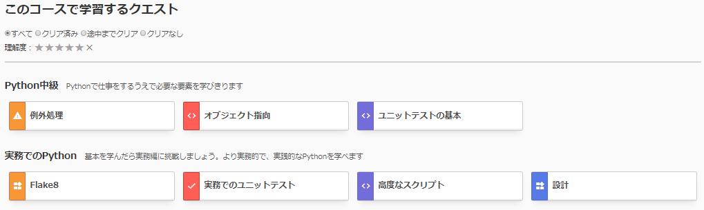実務でのPythonのクエスト