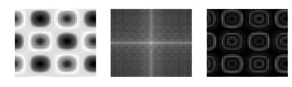 2D フーリエ変換によるフィルタリングコードの実行結果