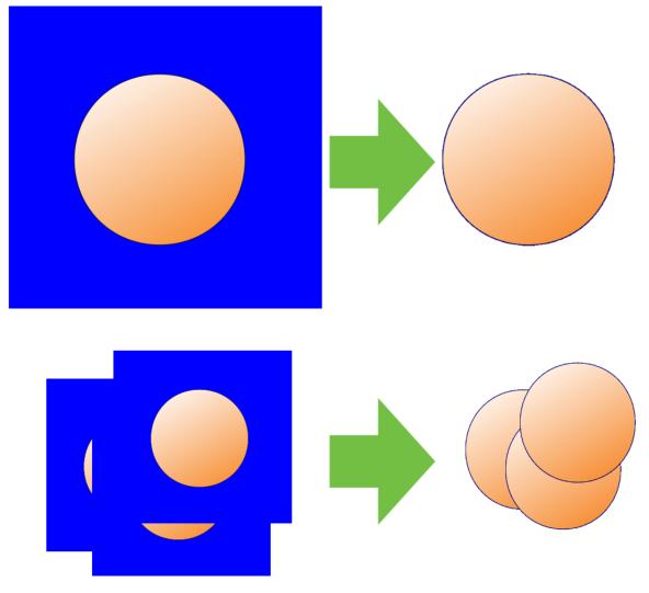 任意色を指定して透明化した結果の例