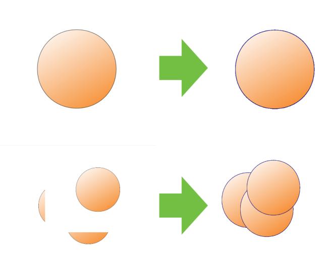 白色を指定して透明化した結果の例