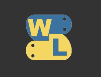 輪郭抽出のサンプル画像はWATLABブログのロゴ