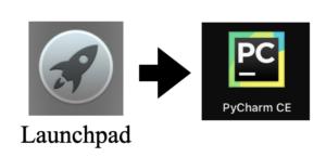 PyCharmの起動