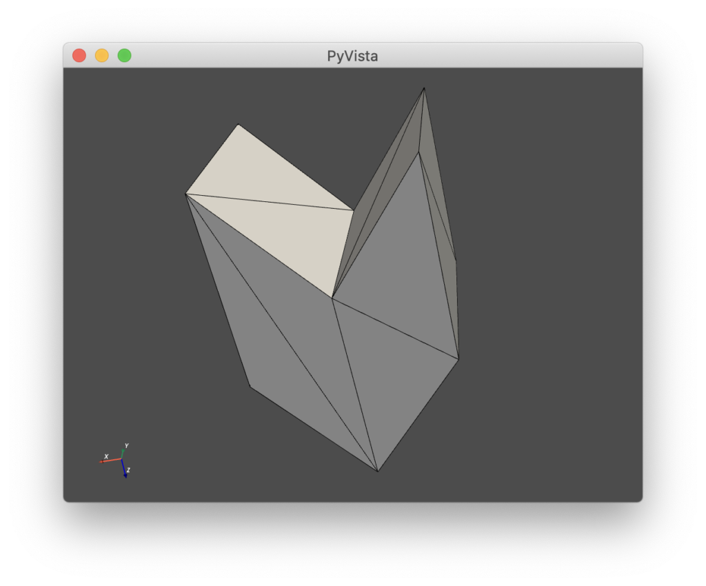 STL with edges on PyVista
