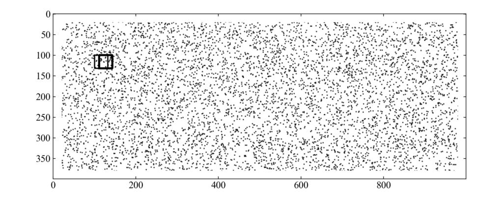 変形画像に対するテンプレートマッチングの結果